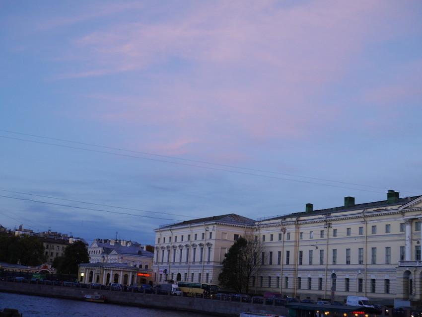 Вечернее осеннее небо