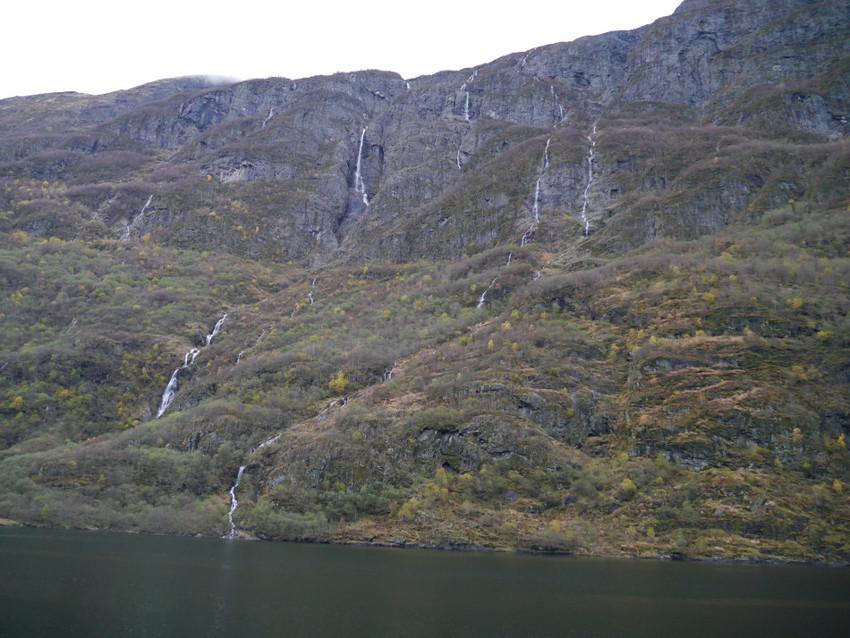 Водные потоки на фьордах