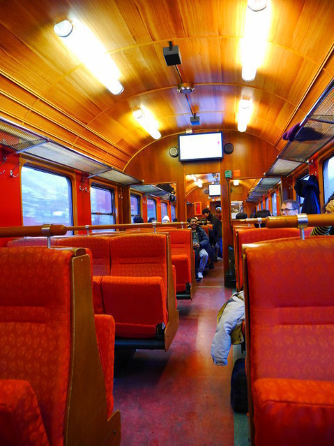 Внутри вагона Фломского поезда