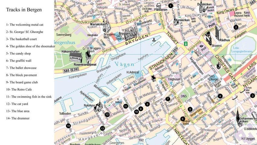 Туристическая карта Бергена