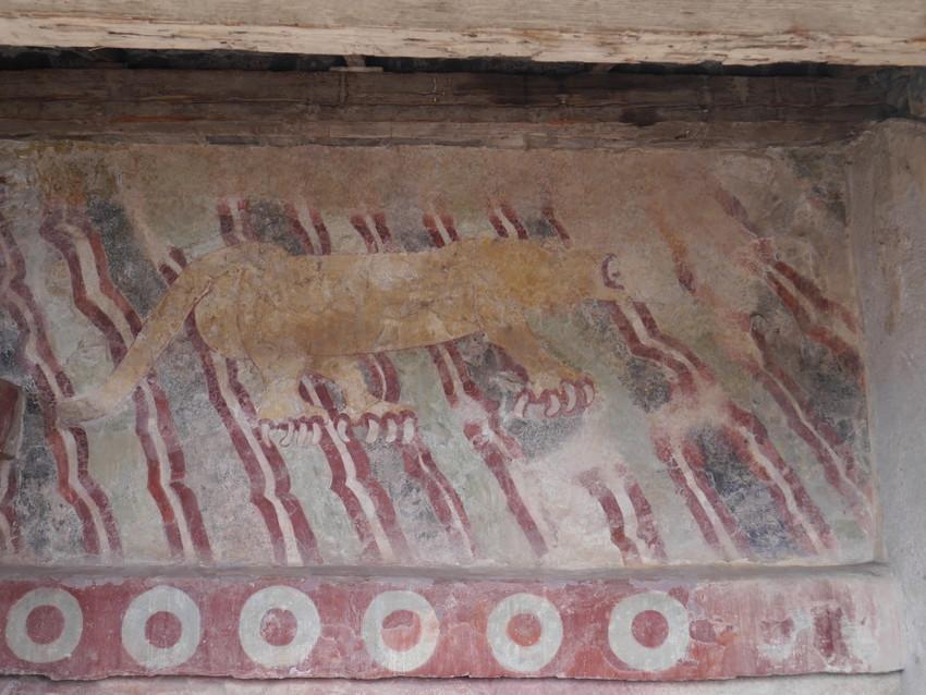Фрески во дворце Кетцальпапалотль