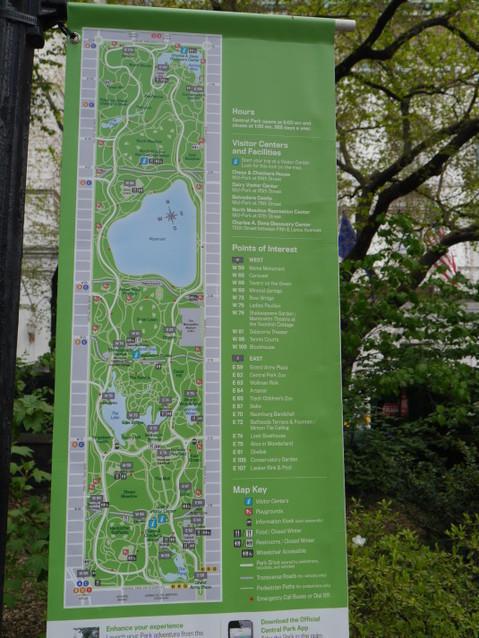 Карта всего Центрального парка