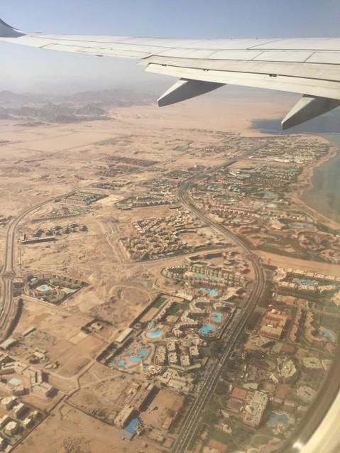 Шарм-эль-Шейх с самолета