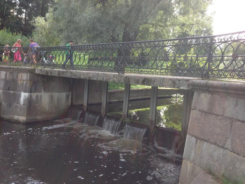Плотина реки Славянки