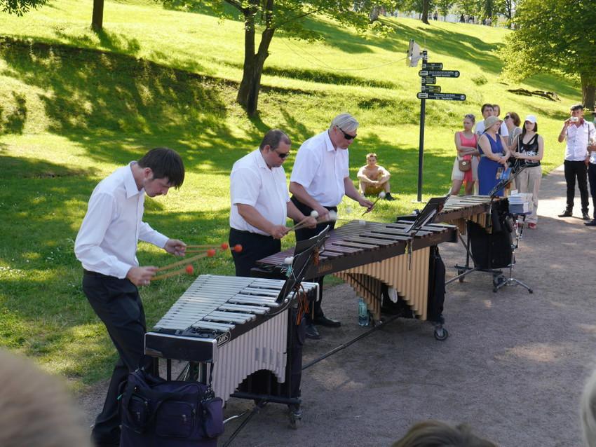 Музыканты в Петергофе