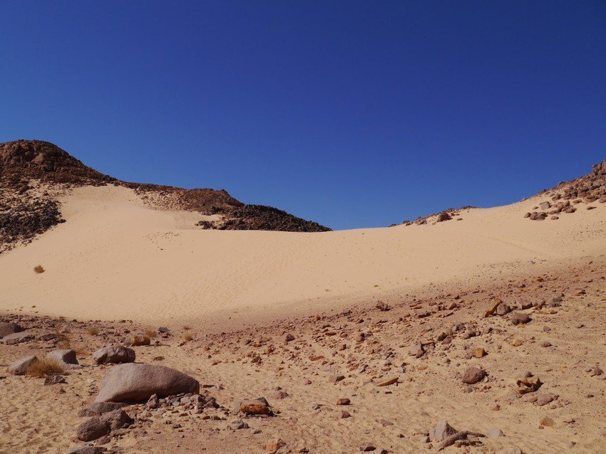 Дюна среди каньонов