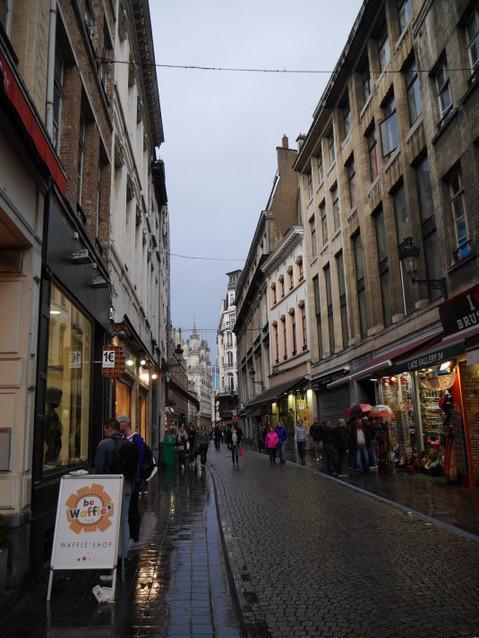 Брюссель в дождь