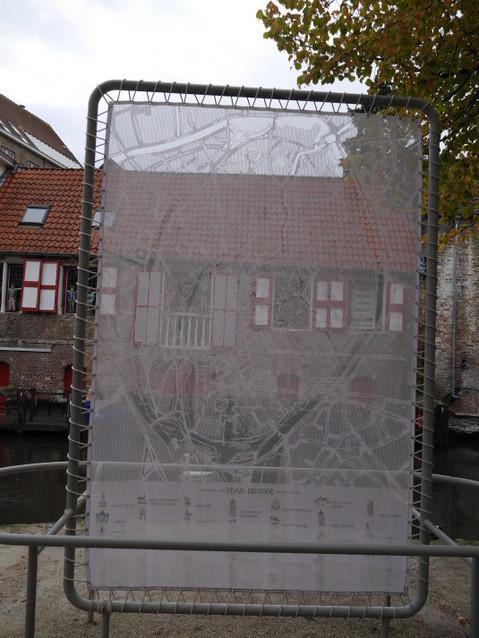 Большое кружево - план города Брюгге