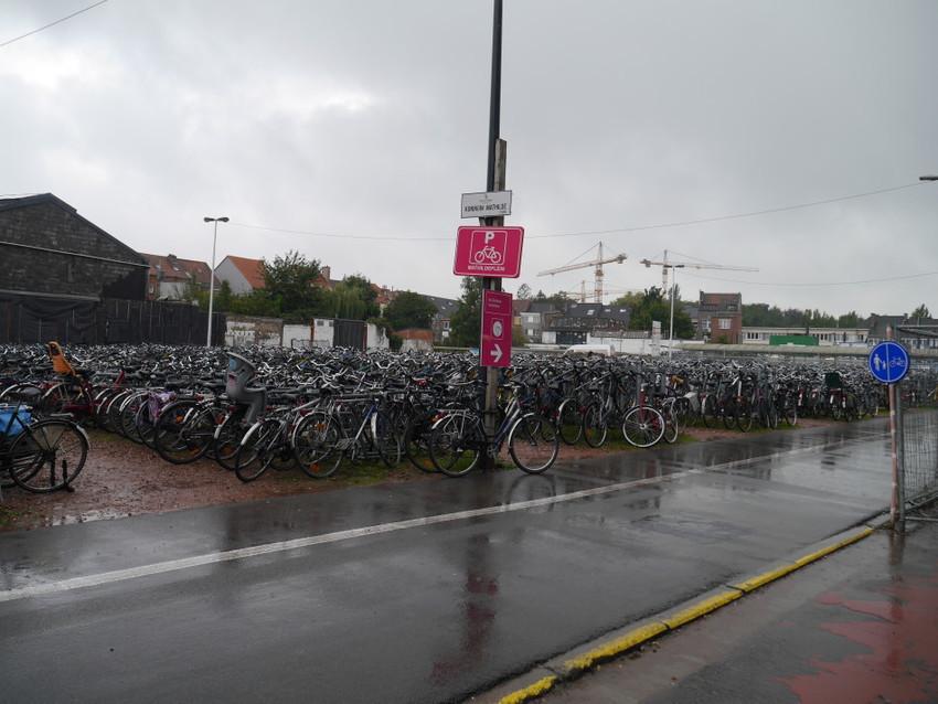 Велосипедная парковка около станции Ж/Д вокзала