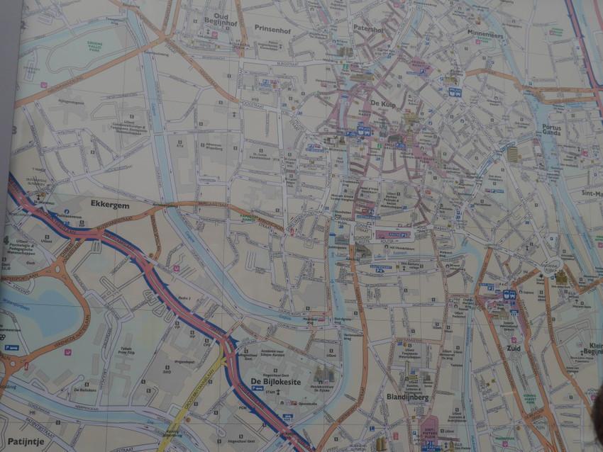 Карта Гента.