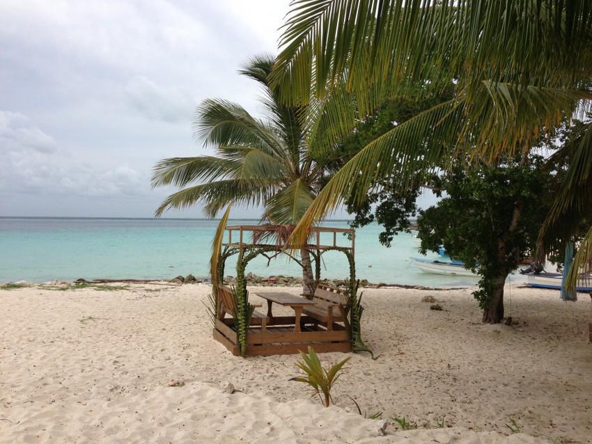 Романтическая беседка на берегу. Доминикана