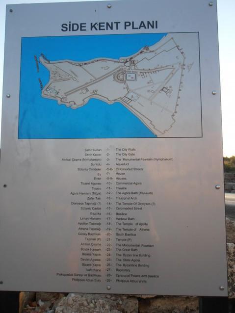 В городе Сиде есть что посмотреть. Карта достопримечательностей