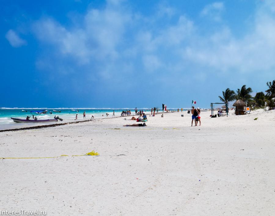 Городской пляж Тулума