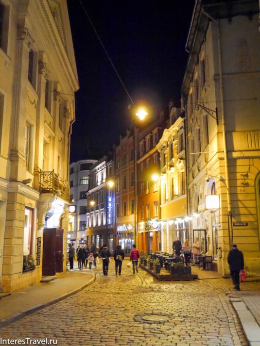 Ночная Рига. Старый город
