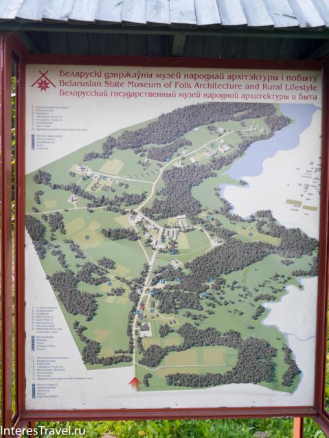 Белорусский музей народной архитектуры и быта. Карта